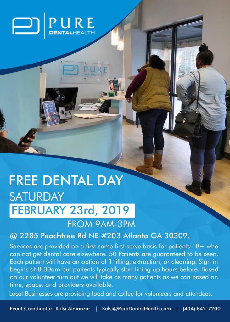 Free Dental Day Saturday Feb 23rd 2019