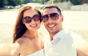 Happy Couple Before Wedding